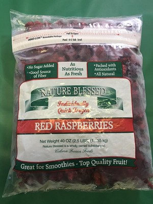 Fresh Frozen Red Raspberries